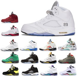 23274549ea91 2019 New wings 5 5s mens basketball shoes PSG Black White grape Laney  International Flight Fresh Prince Oreo Sports Sneakers designer shoes