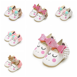 First walkers soFt sole prewalker shoes online shopping - 6styles Unicorn Toddler Girls First Walker Shoes Unicorn Soft Sole Infant Prewalker Primer Walker Non Slip floor Shoes FFA1755