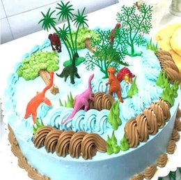 $enCountryForm.capitalKeyWord Australia - 16Pcs Set Jungle Dinosaur theme party DIY Cake Decor cake Topper Baking supplies For kids Birthday Party Gifts Supplies