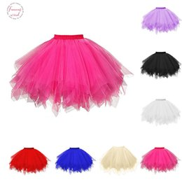 womens purple tutu Australia - Womens High Quality Solid Skirts Pleated Gauze Short Skirt Adult Tutu Dancing Skirt Lack,White,Red,Blue,Purple,Yellow,Hot Pink Colors