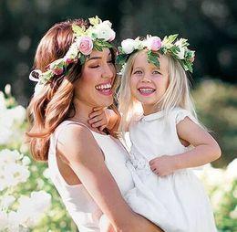 $enCountryForm.capitalKeyWord Australia - New Fashion Handmade Flower Headband Artificial Floral Garland for Baby Girls and Mom Hair Accessories Baby Hair Jewelry Children Headwear