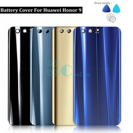 $enCountryForm.capitalKeyWord NZ - For Huawei Honor 9 Back Battery Cover Glass + PC Plastic Honor9 Housing Door With 3M Glue Replacement Repair Spare Parts
