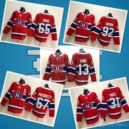 Монреаль Канадиенс 13 Max Domi хоккейные майки 31 Carey Price 92 Джонатан Друэн 6 Ши Вебер 67 Макс Пачиоретти 11 Брендан Галлахер