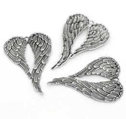 $enCountryForm.capitalKeyWord Australia - Antiqued Silver Angel Wings Dangle Charms Pendant For Jewelry Making Findings Bracelets Handmade Accessories DIY Gifts HOT Party