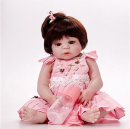 $enCountryForm.capitalKeyWord Australia - ewborn Princess Baby Doll Real 57CM Full Body silicone Girl Reborn Reborns Doll Bath Toy Lifelike Nol