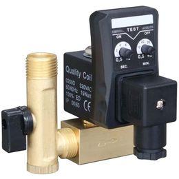 1/2 Zoll DN15 Elektrischer Timer Auto-Wasser-Ventil Magnet Elektronisches Ablassventil für Luftverdichter-Kondensat im Angebot
