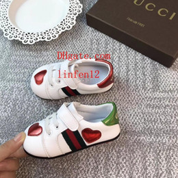 Wholesale baby boys girls todder shoes Children s walking shoes summer Baby Leather Newborn Boys First Walker Infant Prewalker Sneakers