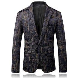 ClassiC suits for men online shopping - Classic Jacquard Suit Men Fashion Casual Mens Suit Jacket Large Size XL Slim Comfortable blazer for man