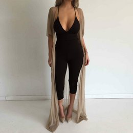 Jumpsuit Fashion Romper Australia - Sexy backless jumpsuit romper women strap v neck evening party overalls Fashion club playsuit Bodycon Strapless