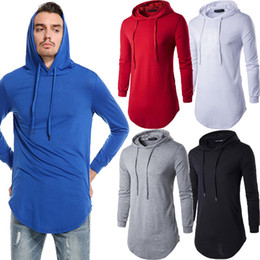 2018 Autumn beiläufigen Männer Slim Fit Langarm Solide Zipper Shirts Kapuzen Muscle Top Hoodies beiläufige Sweatshirts Tops