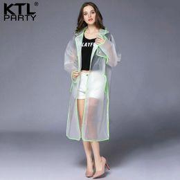 TransparenT ladies suiTs online shopping - KTLPARTY Womens Transparent raincoat female waterproof rain jacket outdoor tourism lady rainwear rain suit poncho