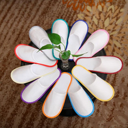 wholesale cheap bath towels NZ - Bath Disposable Slippers Hotel Towelling Slippers EVA Slipper Men Women Flip Flop White Multi color Indoor Cheap Slipper LX5857