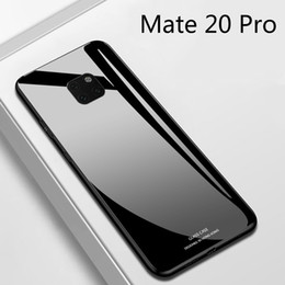 glossy hard case cover UK - For Huawei Mate 20 10 Pro Case Luxury Glossy Tempered Glass Soft Silicone Frame Shockproof Hard Cover