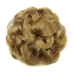 Curling rollers for hair online shopping - 8 Colors Flower Shape Synthetic Hair Curly Chignon Rubber Band Hair Bun Donut Hair Roller Hairpieces for Women