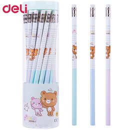 eraser sets Australia - 90pcs kawaii stationery cute rilakkuma pencil with erasers prizes for kids drawing writing pencils 2B school items free ship
