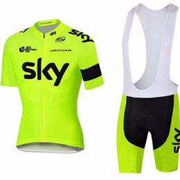 Sky team jerSey SetS online shopping - 2019 SKY Team UCI Summer Cycling jerseys set Breathable D bib shorts quick dry bicycle Ropa Ciclismo Hombre short sleeve cycling clothing