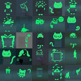 $enCountryForm.capitalKeyWord NZ - Urijk Cartoon Cute Cartoon Switch Luminous Sticker Fluorescent Wall Removable Stickers Window Wall Decoration Night Star Home