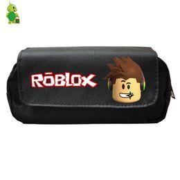 $enCountryForm.capitalKeyWord NZ - Cartoon Roblox Oxford Cosmetic Case Double Layer Pencil Bags Kids Boys Girls School Supplies Hot Game Storage Bags Purse