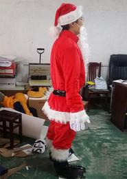 $enCountryForm.capitalKeyWord Australia - 2019 High quality Christmas Santa Claus Costumes Set 9pcs full body suit Mascot Costume