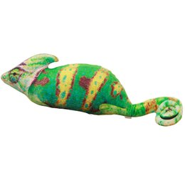 Chinese  80cm 100cm Creative Simulation Horrible Green Chameleon Doll Soft and comfortable pillow cushions Personalized Gift Plush Toy manufacturers