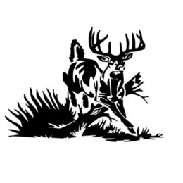 $enCountryForm.capitalKeyWord UK - Whitetail Deer buck hunting car truck window vinyl decal graphic sticker Checkered Flags Windshield Sticker