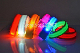 Glow Party Decorations Australia - DHL Free 200pcs LED bracelets flashing wrist band for event party decoration glowing bracelet running gear LED lights wrist ring 20180920#
