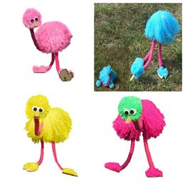 Discount hand puppets for kids - Marionette Doll Muppets Animal Muppet Hand Puppets Toys Wool Rope Ostrich Marionette Doll For Kids Wooden Puppet Doll To