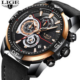 $enCountryForm.capitalKeyWord Australia - New Lige Mens Watches Top Brand Luxury Business Waterproof Quartz Watch Mens Black Casual Leather Sport Watch Relogio Masculino Y19052201