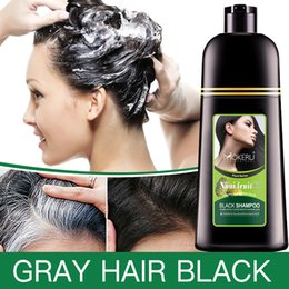 $enCountryForm.capitalKeyWord Australia - Mokeru Organic Natural Fast Hair Dye Only 5 Minutes Noni Plant Essence Black Hair Color Dye Shampoo For Cover Gray White HairMX190821