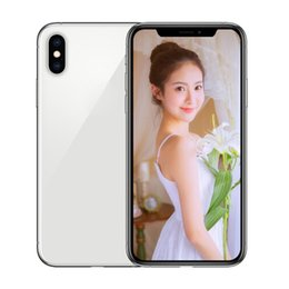 Unlocked Android Boxes NZ - Goophone XS MAX 6.5inch full screen ram 1G rom 8G real face ID Wireless Charging quad core android unlocked phone sealed box