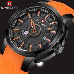 $enCountryForm.capitalKeyWord Australia - New Men's Watches Top Luxury Naviforce Brand Fashion Sport Military Watch Men Quartz Wrist Watch Rubber Clock Dropshipping Y19070603