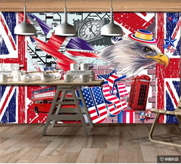 Photo backdroPs brick walls online shopping - custom size d photo wallpaper mural living room brick wall retro bar cafe d picture sofa TV backdrop wallpaper mural non woven sticker
