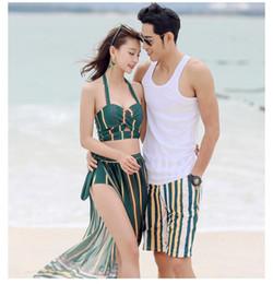$enCountryForm.capitalKeyWord Australia - 2019 Korean split swimsuit ladies sexy high waist was thin bikini three-piece beach spa swimsuit bathing suit women biquini brazilian