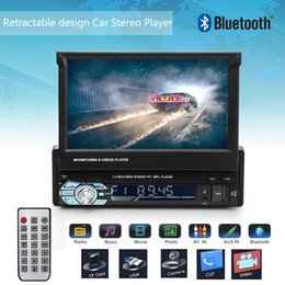 "gps hands free NZ - Onever 7"" Retractable Autoradio GPS Bluetooth Navigation Car Stereo MP5 Player Touch Screen Hands-free Call Rear Camera Display"