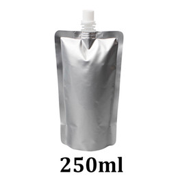 $enCountryForm.capitalKeyWord UK - 250ml food grade packaging silver aluminum foil spout pouch