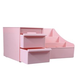 Mobile Housings Australia - Cosmetic Storage Box Drawer Desktop Plastic Makeup Dressing Table Skin Care Rack House Organizer Container Mobile Phone Sundries