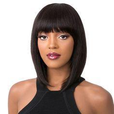 $enCountryForm.capitalKeyWord Australia - Short Human Hair Wigs Bob machine made Wigs For Black Women Brazilian Straight Human Hair Wig Non Remy 12 Inch Hair Wigs
