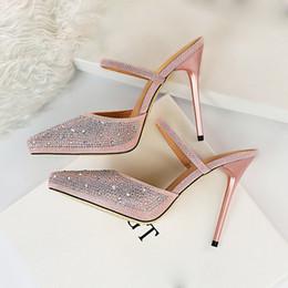 87ac92556489 Sexy bling SandalS online shopping - 2019 Summer Women Fashion cm High  Heels Slides Female Glitter