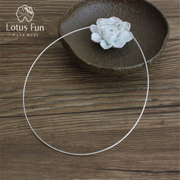 $enCountryForm.capitalKeyWord Australia - Lotus Fun Real 925 Sterling Silver Handmade Fine Jewelry Fashion Choker Necklace Chain For Women Collier Femme Acessorios MX190726 MX190727