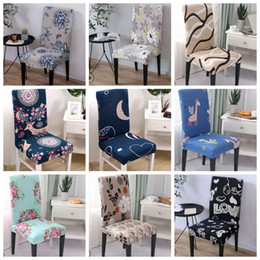 Offices Chairs Australia - Spandex Chair Covers Stretch Dining Seat Slipcover Removable Chair Covering Elastic Seat Case Office Banquet Wedding Decor 39 Designs YW2816