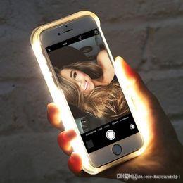 $enCountryForm.capitalKeyWord Australia - Luminous Illuminated Flashlight LED Light Selfie Fill Light Cell Phone Case Phone Cover for IPhone e41