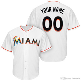 8f57bb7629e Custom Men Women Youth Miami Starlin Castro Lewis Brinson Brian Anderson  Dan Straily JT Riddle Jarlin Garcia Marlins Baseball