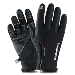 windproof waterproof touch screen gloves UK - Windproof waterproof Outdoor Sports gloves Skiing Touch Screen winter warm Glove Cycling Bicycle Gloves Military Motorcycle Racing Gloves