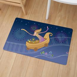 $enCountryForm.capitalKeyWord NZ - Cute Girl Illustration Print Floor Door Mat 46*76cm Kitchen Non Slip Carpet Bedroom Bathroom Entrance PVC Leather Mats And Rugs