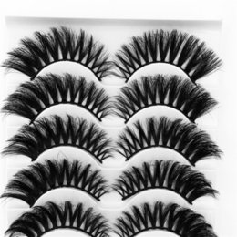 $enCountryForm.capitalKeyWord NZ - 5 Pairs Luxurious Mink Hair False Eyelashes Thick Curled Full Strip Lashes Eyelash Extension Fashion Women Eyes Natural Makeup D19011701