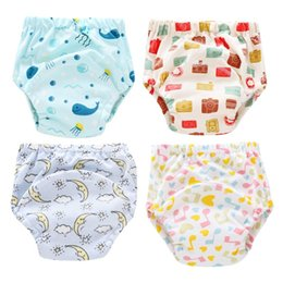 diaper pants for babies Australia - 4 Pcs 1 Pack Baby Diapers Learning Training Pants Washable 6 Layers Of Gauze Diaper Breathable Partition Diapers For 6-12Kg Baby