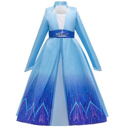 infant tutu pageant dresses UK - Frozen Dress for Kids Girls Baby Girl Long Dress Infant Princess Pageant Formal Wedding Dress Party Ball Gown 2020 Children Clothing S544