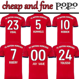 Logos soccer online shopping - 18 Super Cheap Bayern Munich Cheap and Fine Soccer Jersey ROOBEN THIAGO RIBERY HUMMELS Embroidery Logo