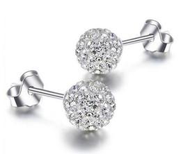 $enCountryForm.capitalKeyWord UK - 925 Sterling Silver Stud Earrings Shambala Ball Diamond Crystal Disco Beads Candy Earring Fashion Jewelry for Women Girls High Quality