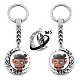 funny rings for women Australia - 1PC Cartoon Funny Double Sides Chinese Mythology Nezha DIY Key Chains for Bags Key Ring Decoration Jewelry Accessory Chain